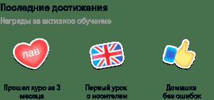 Награды за активное обучение английскому языку